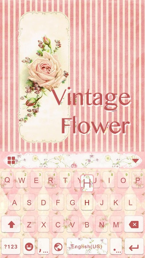 Vintage-Flower-Keyboard-Theme 6