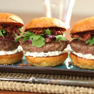Mediterranean Lamb Sliders with Olive Everything Spread