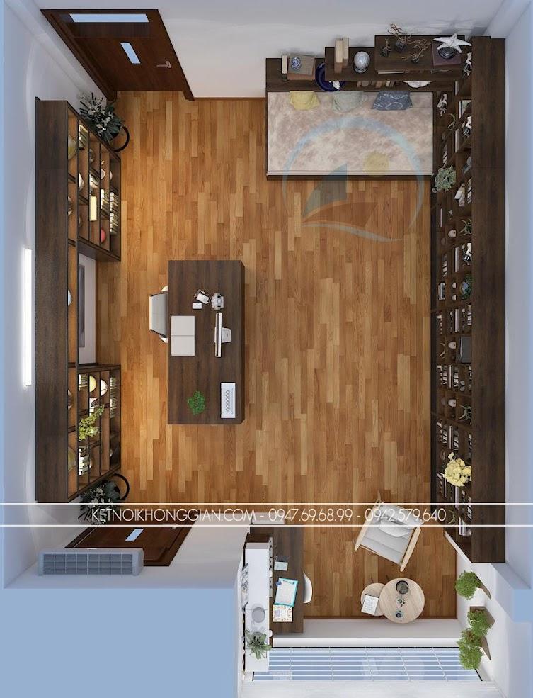 thiết kế phòng đọc sách kết hợp phòng làm việc và phòng học 1