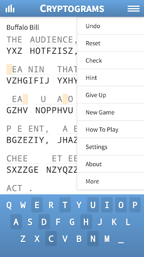 Cryptogram Puzzles 1.62 screenshots 2