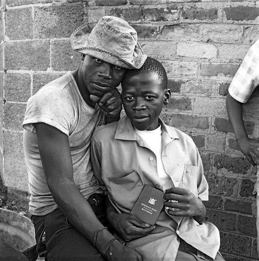Young men with dompas White City, Jabavu, Soweto, Johannesburg, November 1972 Picture: COURTESY DAVID GOLDBLATT AND GOODMAN GALLERY JOHANNESBURG AND CAPE TOWN