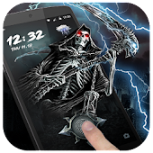 Skull Death Fingerprint Lock Screen (Prank)