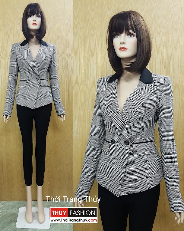 Áo vest nữ kẻ caro phong cách men wear V506 Thời Trang Thuỷ