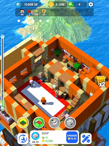 Tower Craft 3D - Idle Block Building Game apkdebit screenshots 6