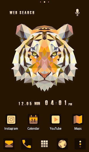 Polygon Tiger Wallpaper Theme 1.0.0 Windows u7528 1