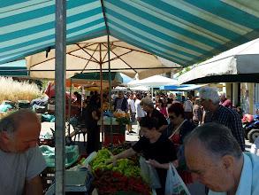 Photo: At lively Chania farmers market