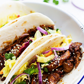 Slow Cooker Korean BBQ Pork Tacos Recipe