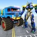 US Police Monster Truck Transform Robot War Games icon