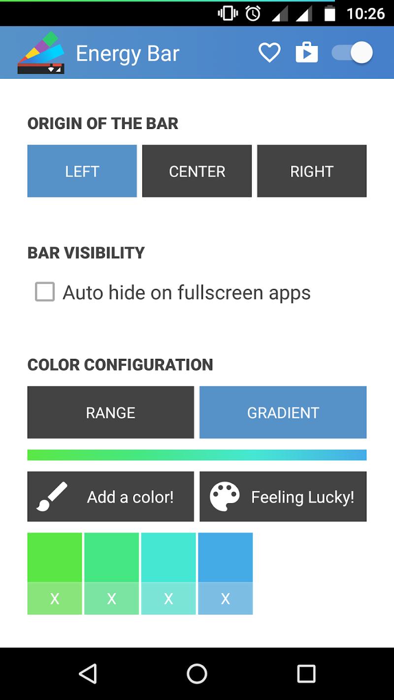 Energy Bar - A pulsating Battery indicator! Screenshot 5