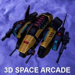 3D space Sci-fi action shooter icon