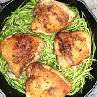 Chicken Thighs with Peppery Pesto.