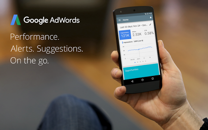 AdWords Android App Screenshot