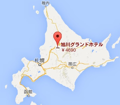 地図:旭川グランドホテル