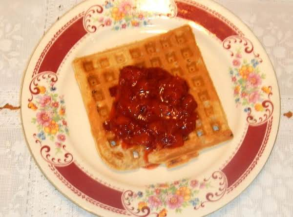 All-bran Waffles W/freezer Strawberry Rhubarb Jam