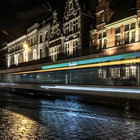 by Kathelijn Vlaemynck - City,  Street & Park  Night