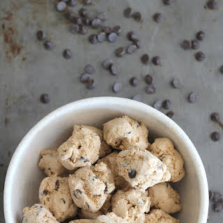 Low Carb Coffee Chip Frozen Cream Cheese Bites.