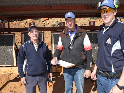 Father, son pistol duo at titles