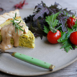 Yellow Sweet Potato Chickpea Pie with Basil