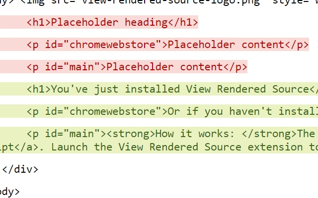 View Rendered Source Extension