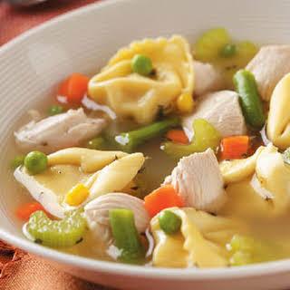 Chicken Tortellini Soup.