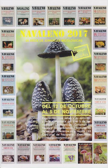 XXV Jornadas Micológicas - Cartel 2017