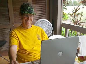 Photo: Howard on the veranda
