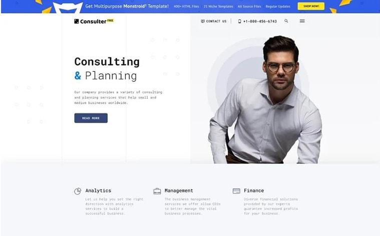 лучший бесплатный шаблон темы ботстрапа веб-сайт бизнес веб-сайт консалтинг стартап