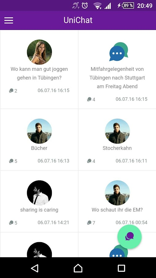 UniYApp Tübingen- screenshot