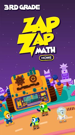 3rd Grade Math: Fun Kids Games -  Zapzapmath Home 1.1.1 screenshots 1