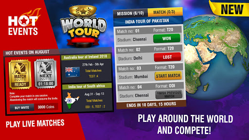 (APK) تحميل لالروبوت / PC World Cricket Championship 2 تطبيقات screenshot