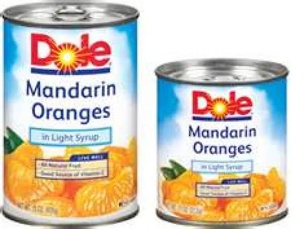 Mandarin Orange Cake & Creamy Topping