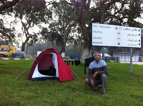 Photo: Camping site at Larache, five stars!