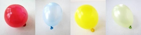 Wash and dry balloons before starting.  Blow up balloons to about the size of a...