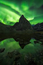 Photo: The northern lights are one of the most awe inspiring things I have seen in nature. This was taken after helicoptering in to a 6 day backpacking trip in the Yukon about a month ago.  I set up my camera at around 10:00 PM and sat out in the cold watching the show light up what seemed like every inch of the sky (other than where my camera was pointed) from around midnight until 3AM. But then the lights cooperated and this scene began to unfold, peaking at around 3:45 when this frame was taken. When I got back to my tent after 5AM there was still green light in the sky. Sitting there in the dark watching a strong aurora under perfectly clear skies for 5 hours is definitely one of the most memorable experiences of my life.