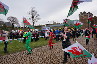 Photo: So many Welsh flags