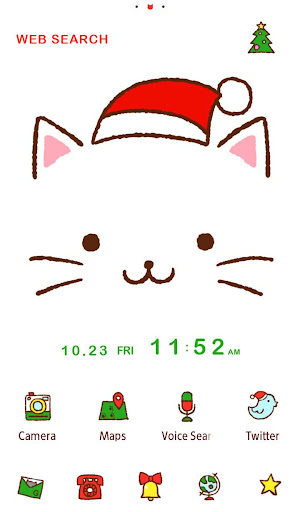 Christmas  Theme Kitty Face 1.0.0 Windows u7528 1