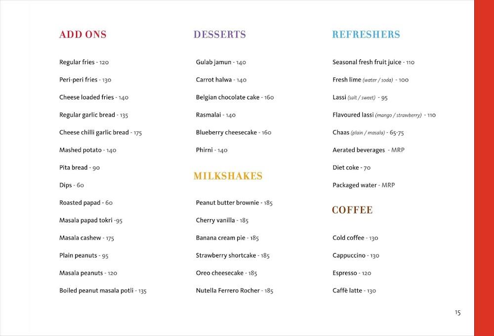 Mishmash menu 5