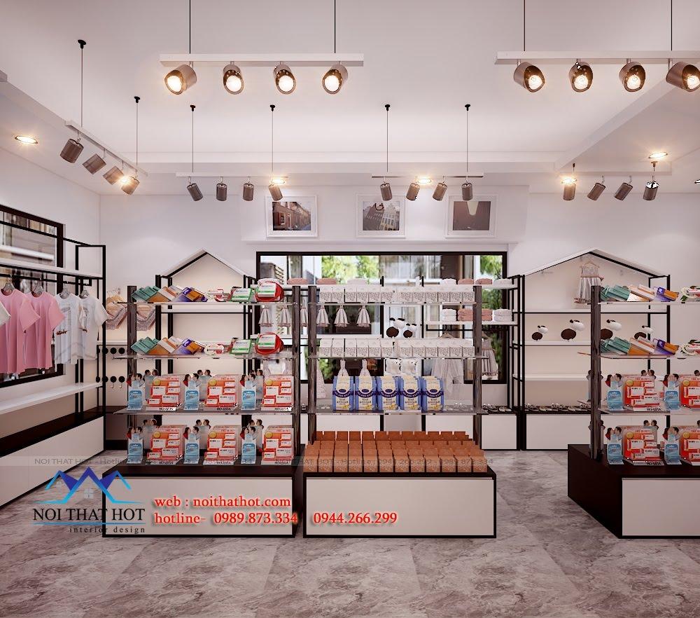 Thiết kế cửa hàng tạp hóa tầng 2
