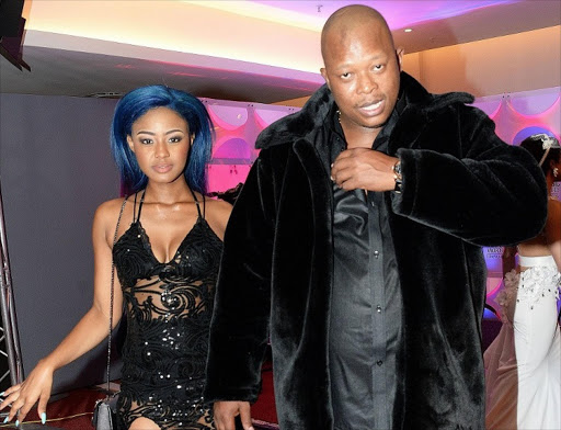 File picture of Babes Wodumo and Mampintsha at the South African Music Awards at Sun City Superbowl, North West.
