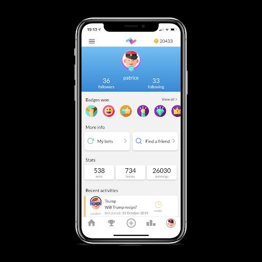 PeerBet - Free social betting game 2.4.0 screenshots 2