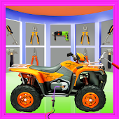 Quad Bike Repair Mechanic Workshop: Car Wash Salon