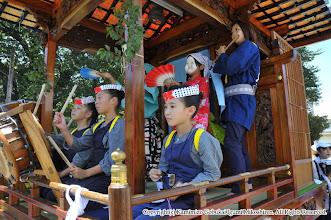 Photo: 【平成21年(2009) 本宮】  山車の子供たちの懸命な演舞。