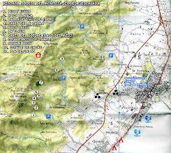 Photo: Tarragona - MONTSIÀ SUD - Mapa Zonas Escalada