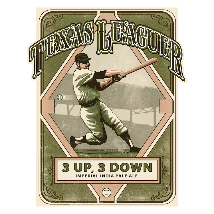 Logo of Texas Leaguer 3 Up, 3 Down