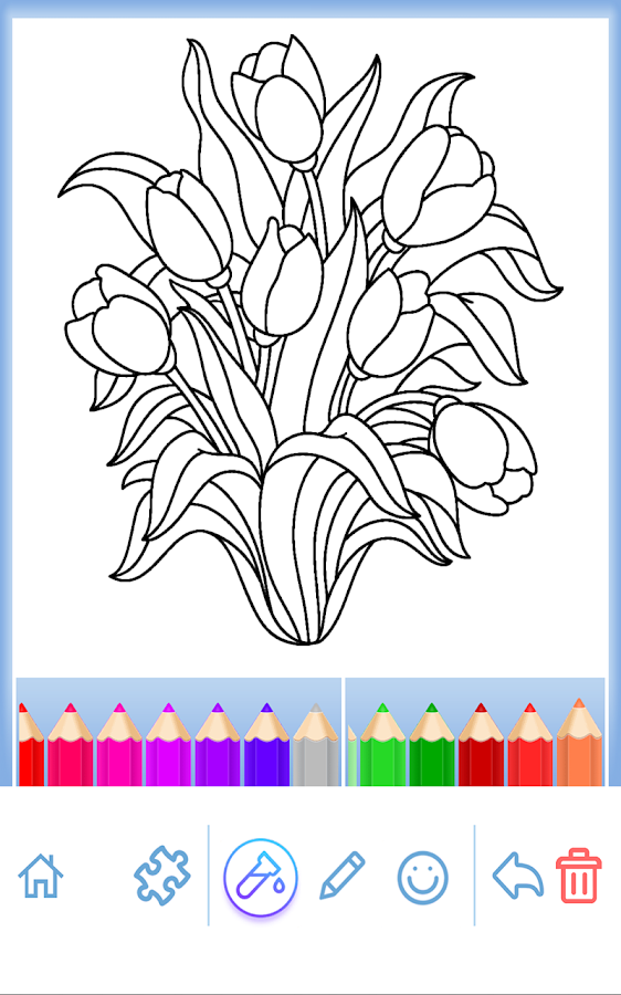 Coloring Pages For Adults App : Adult coloring flowers android apps on google play