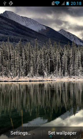 android Mountain lakes live wallpaper Screenshot 0