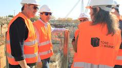 Representantes de Macael durante la visita a Portugal.