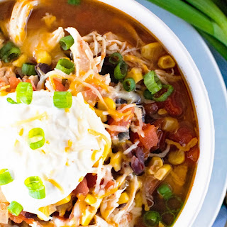 {Instant Pot} Pressure Cooker Chicken Taco Soup.
