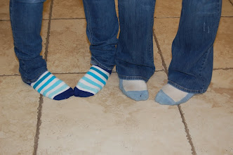 "Photo: The traditional ""Sock shot""."
