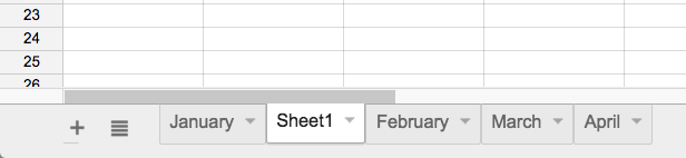 A new sheet appears in the sheets toolbar.